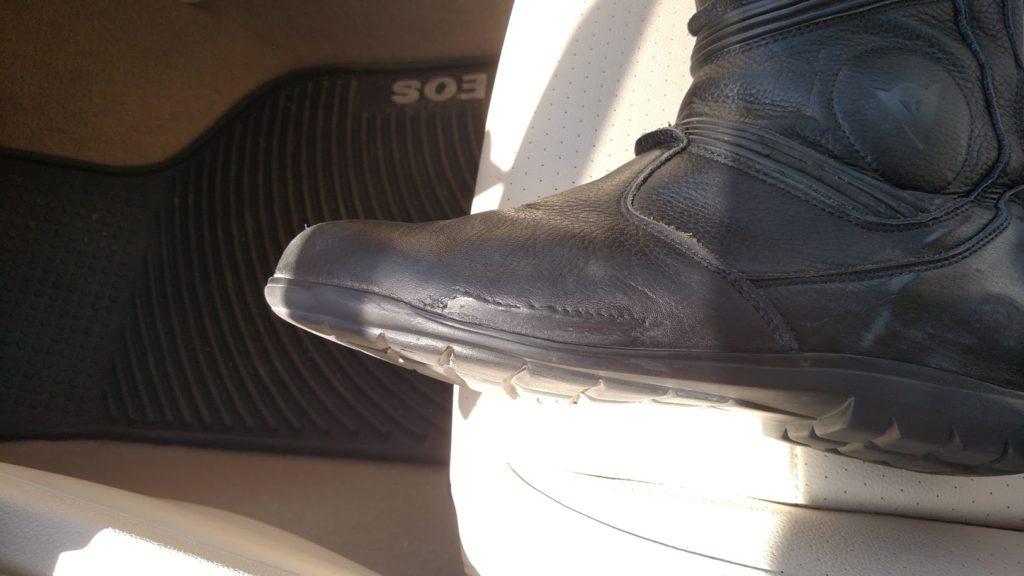 Dianese-fulcrum-boot-repaired